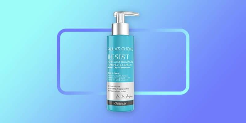 paulas choice resist balancing face wash for oily sensitive skin