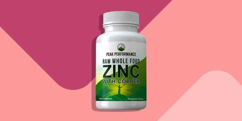 Peak Performance Raw Whole Food Zinc Supplement with Copper