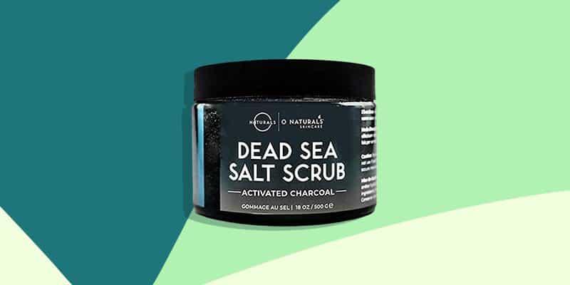 Best for Men: O Naturals Men's Exfoliating Activated Charcoal Dead Sea Salt Scrub